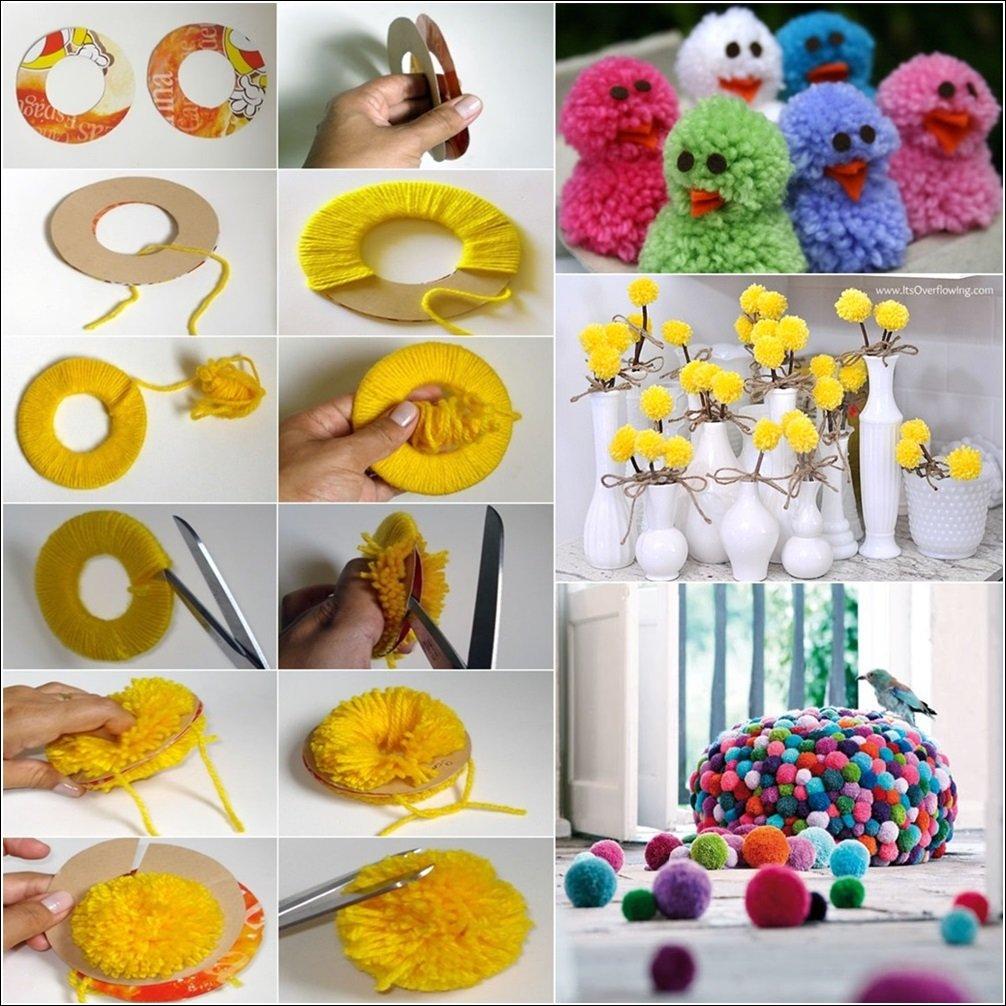 Kreative Ideen mit Pompoms