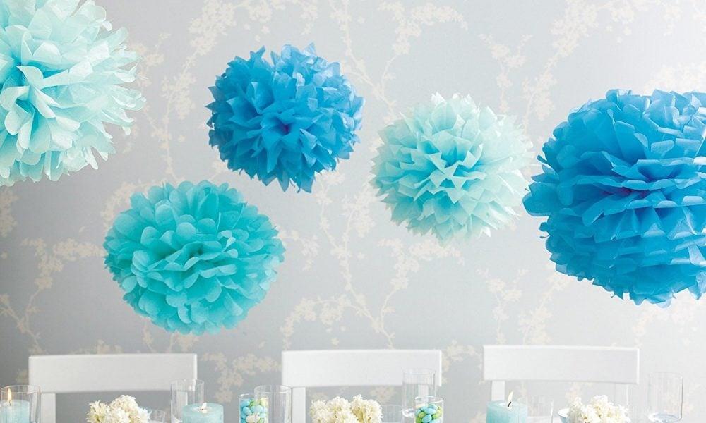 Pompoms basteln-papier Pompoms als Dekoration