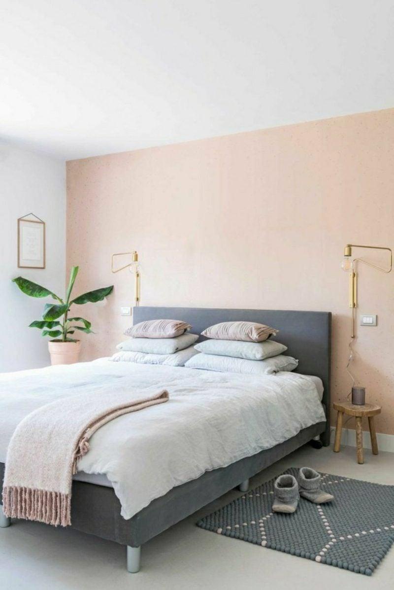 Schlafzimmer Ideen Wandgestaltung Pastellfarben