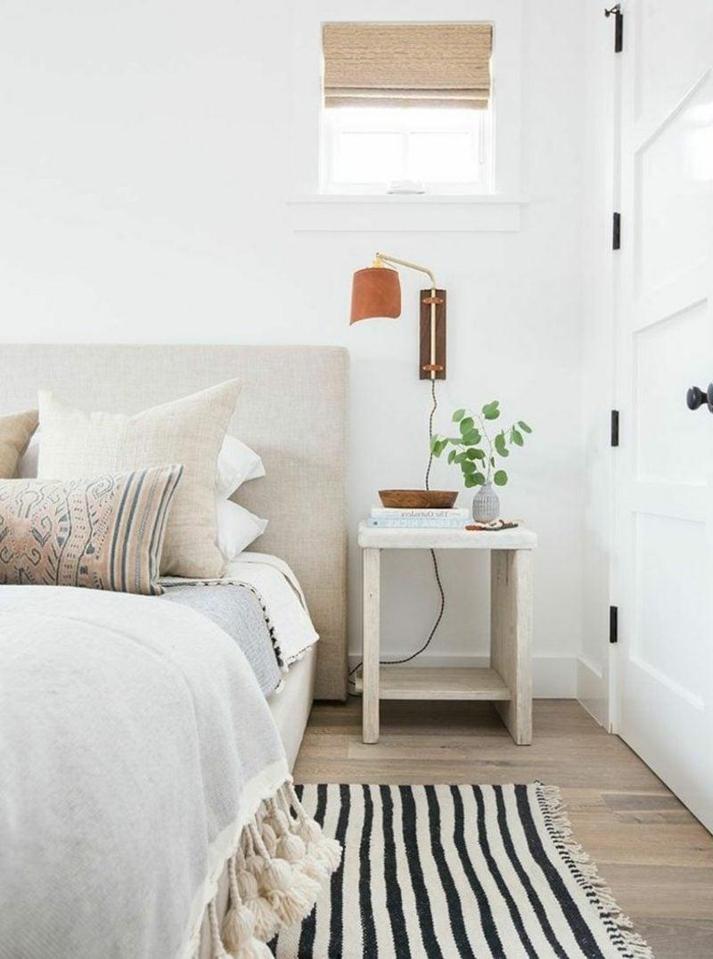 Wohnideen Schlafzimmer neutrale Farbgestaltung Beleuchtung