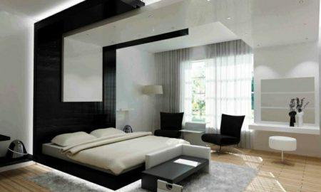 Schlafzimmer modern indirekte Beleuchtung Akzentwand