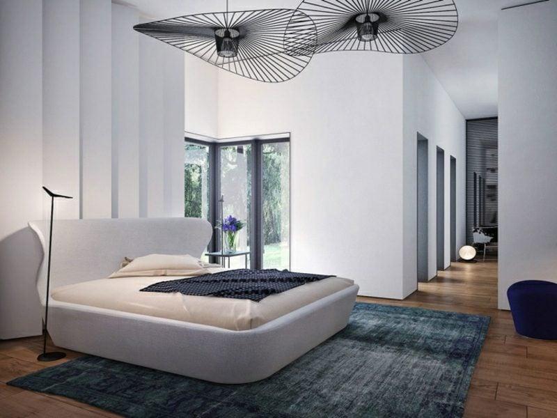 Schlafzimmer einrichten Beleuchtung herrliche Lampen