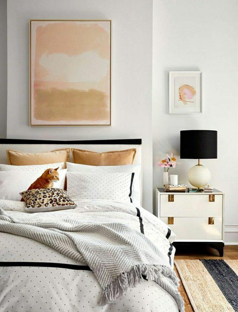 Bilder Schlafzimmer attraktive Wanddeko