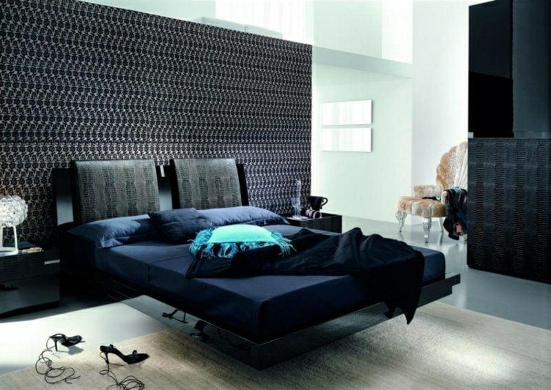 Schlafzimmer Design modern Akzentwand Tapet