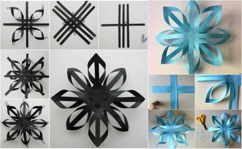Origami Weihnachten eindrucksvolle Schneeflocken Papier