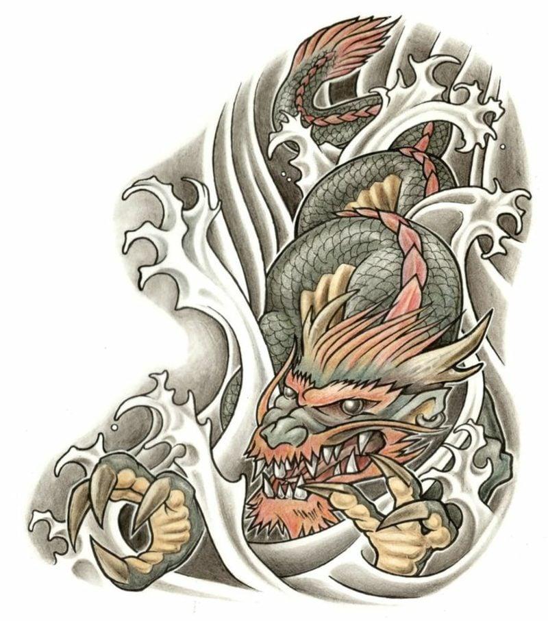 Tattoo Vorlagen Männer Drache