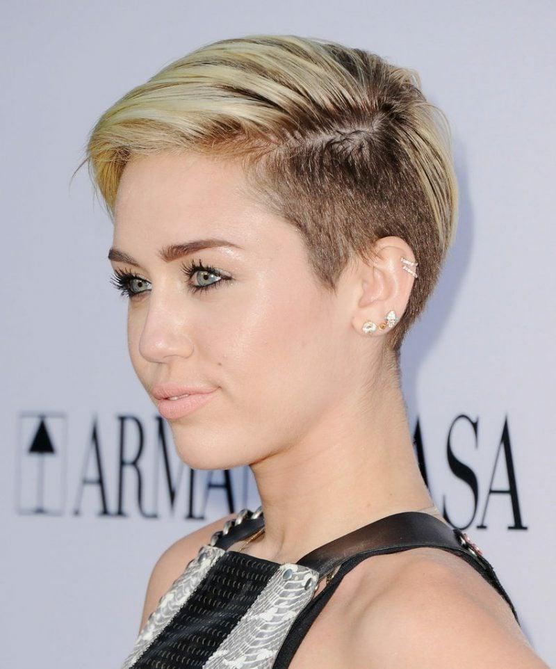 Kurzhaarfrisuren Frauen 2017 Undercut Miley Cyris