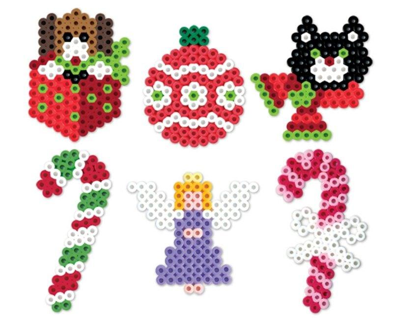 Bügelperlen Vorlagen Weihnachten Zuckerstange Christbaumkugel Engelchen