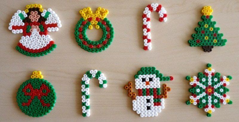 Bügelperlen Vorlagen Weihnachten herrliche Dekorationen selber gemacht
