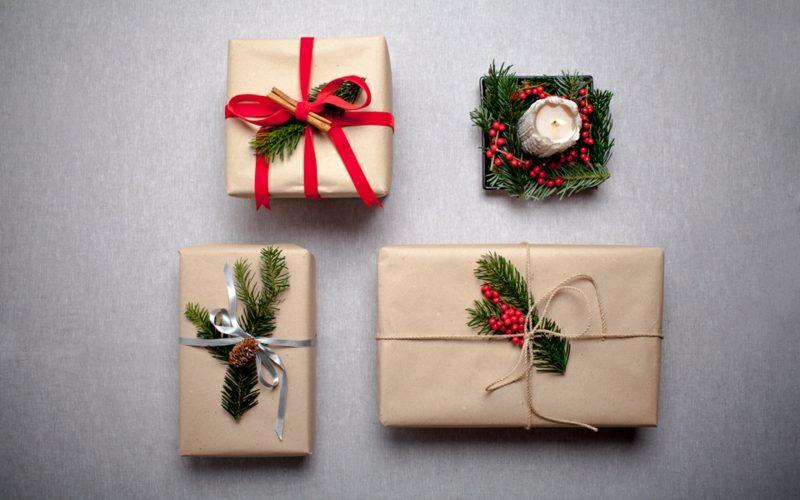 Geschenke verpacken Weihnachten inspirierende Ideen DIY