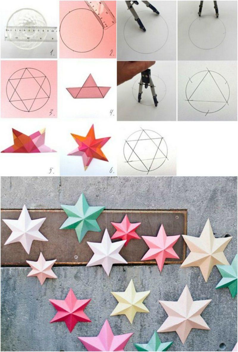 Origami Weihnachten Sterne Bilderanleitung