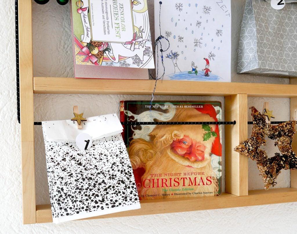 Adventskalender füllen mit Büchern