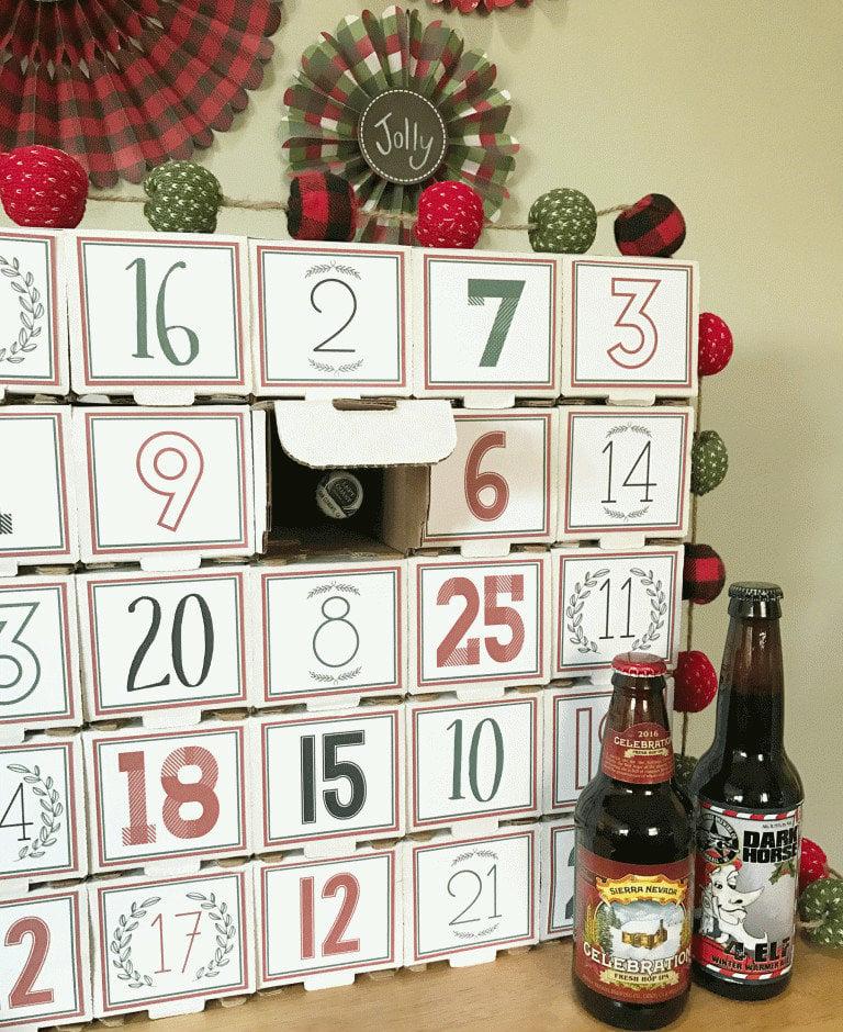 Adventskalender für Männer - Bier Adventskalender selber machen