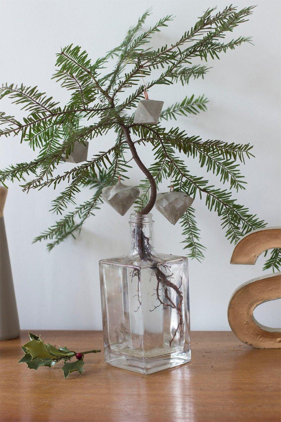 Beton deko weihnachtsdeko aus beton basteln 34 diy anleitungen diy weihnachtsdeko ideen - Geweih deko selber machen ...