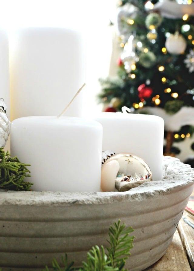 Weihnachtsdeko Beton Deko