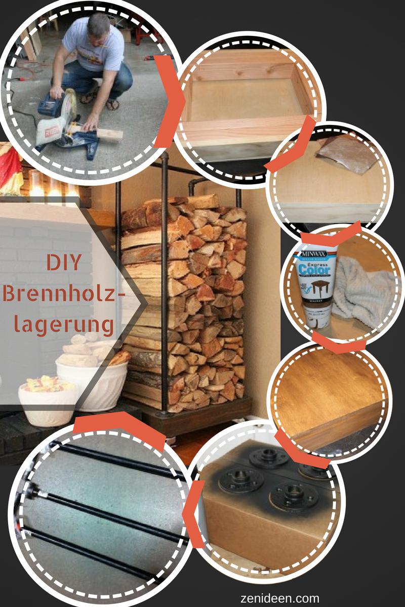 DIY Anleitung für Kaminholz Lagern zu Hause