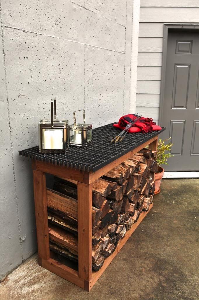 Wo soll ich das Brennholz lagern?