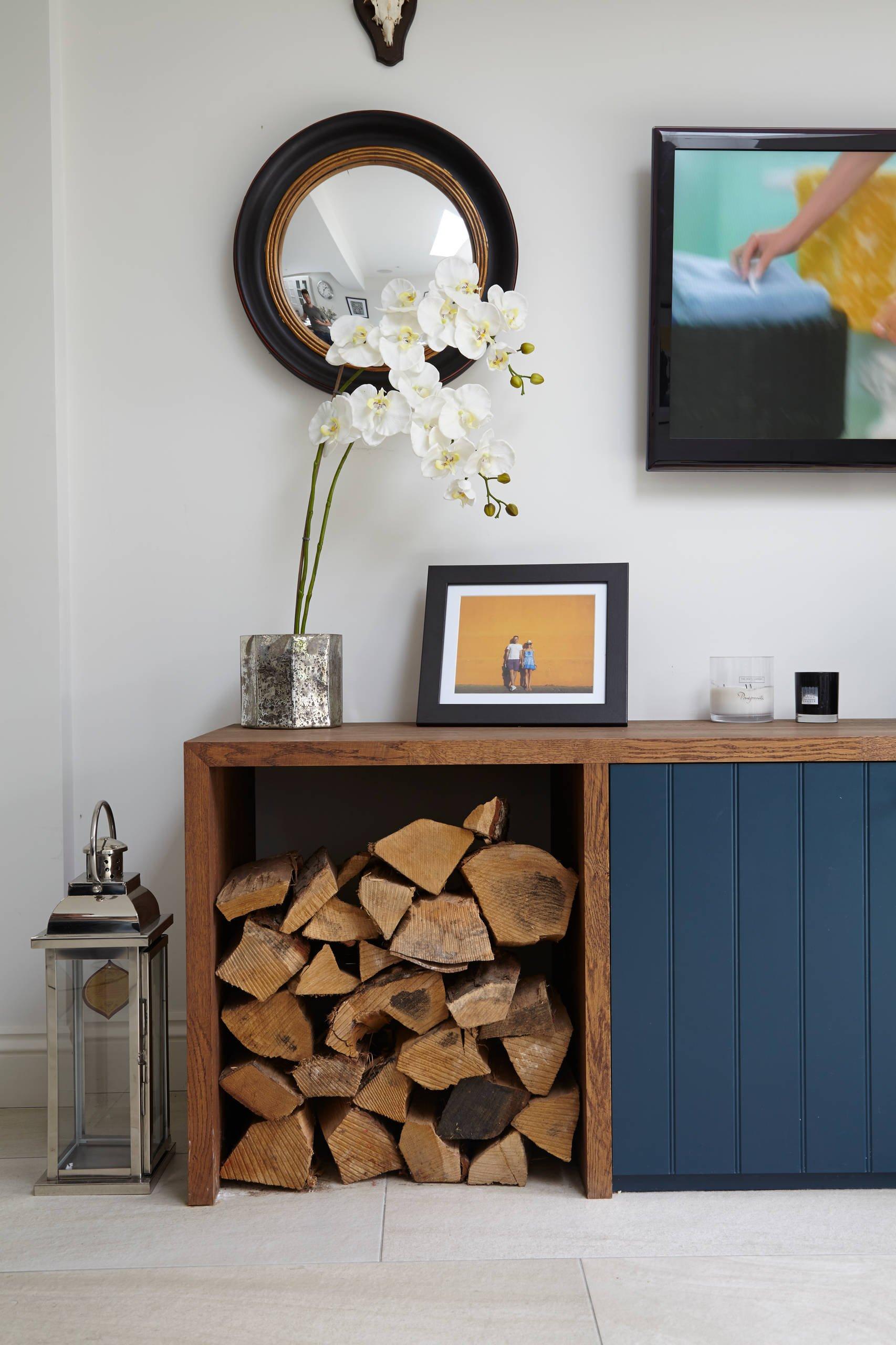 Ideen für stilvolle Brennholzlagerung zu Hause