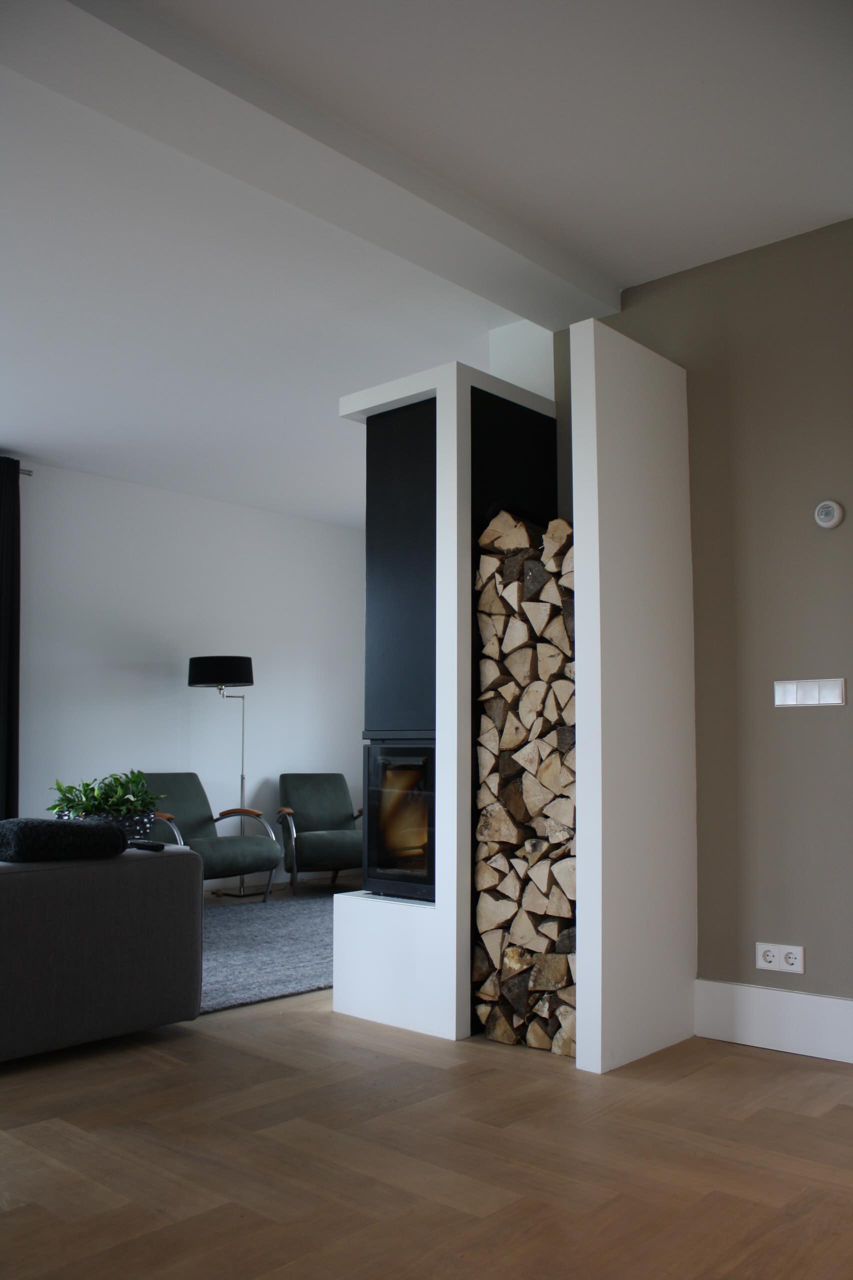 Wie soll ich mein Brennholz lagern, damit mein Kamin richtig heizen kann?