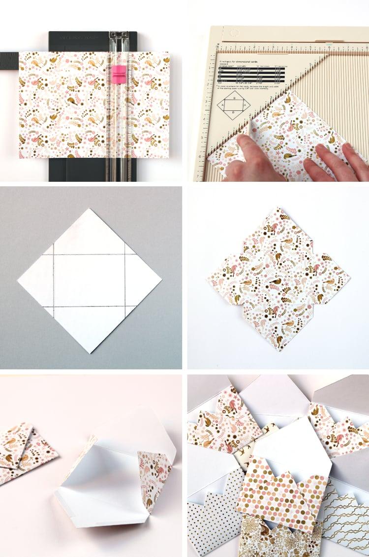 Brief Umschlag falten