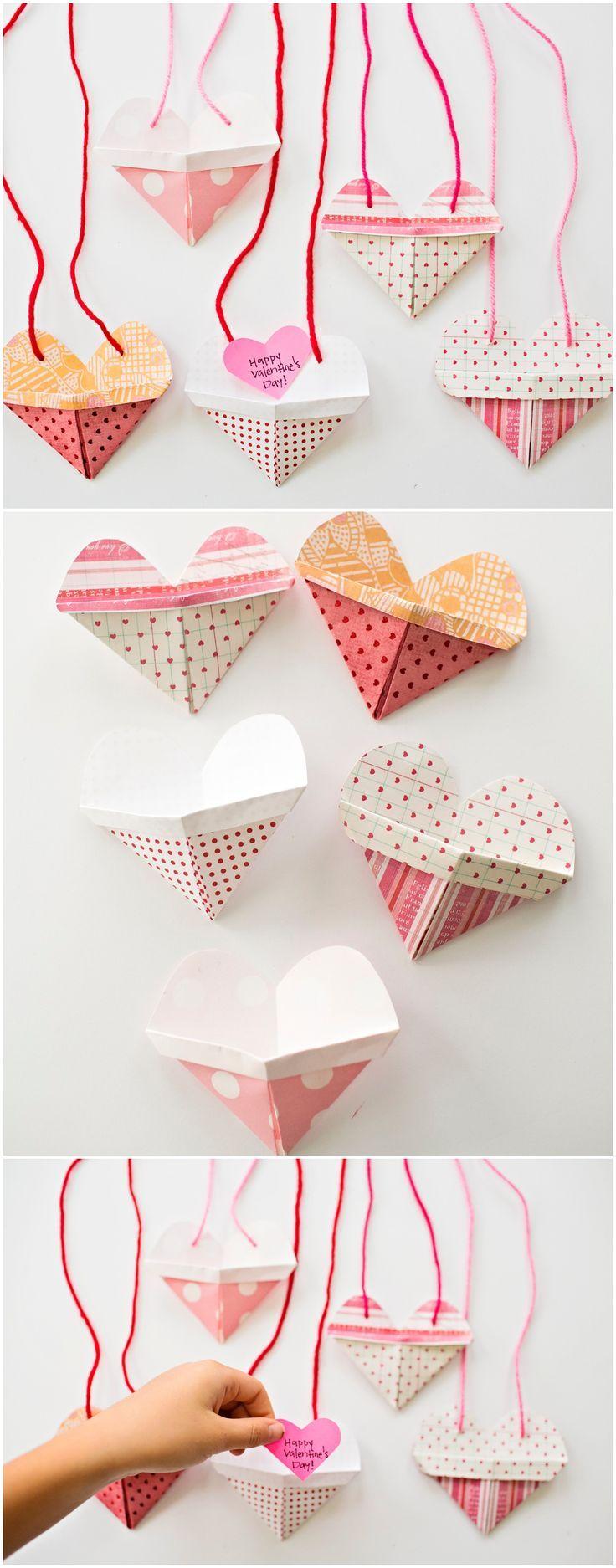 Briefumschlag falten Valentinstag