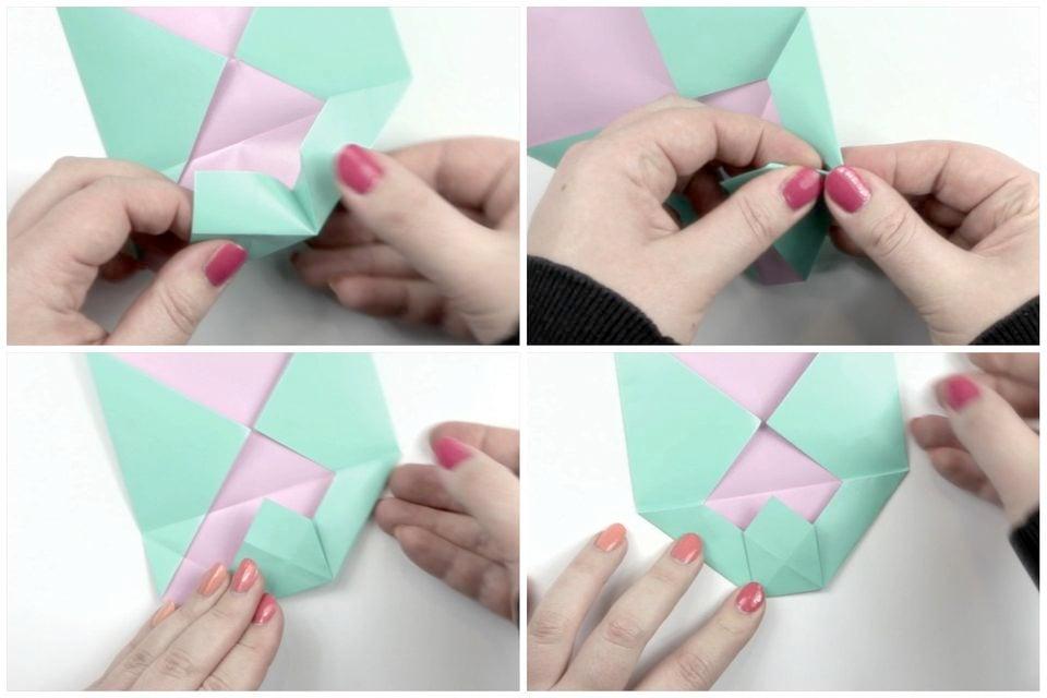 Brief Falten Nach Innen Aussen : Briefumschlag falten in sekunden kreative diy
