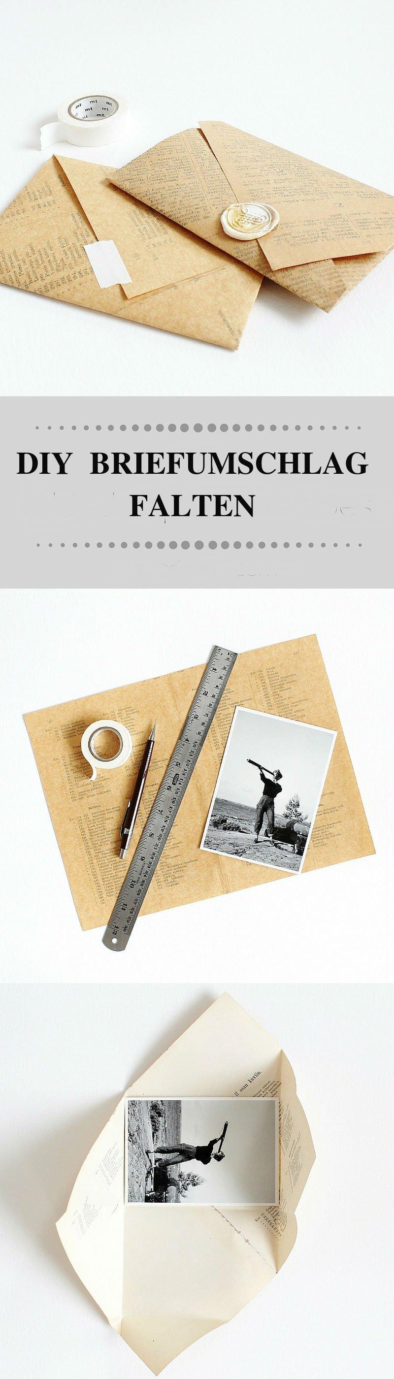 Brief Falten Für Kleinen Briefumschlag : Briefumschlag falten in sekunden kreative diy