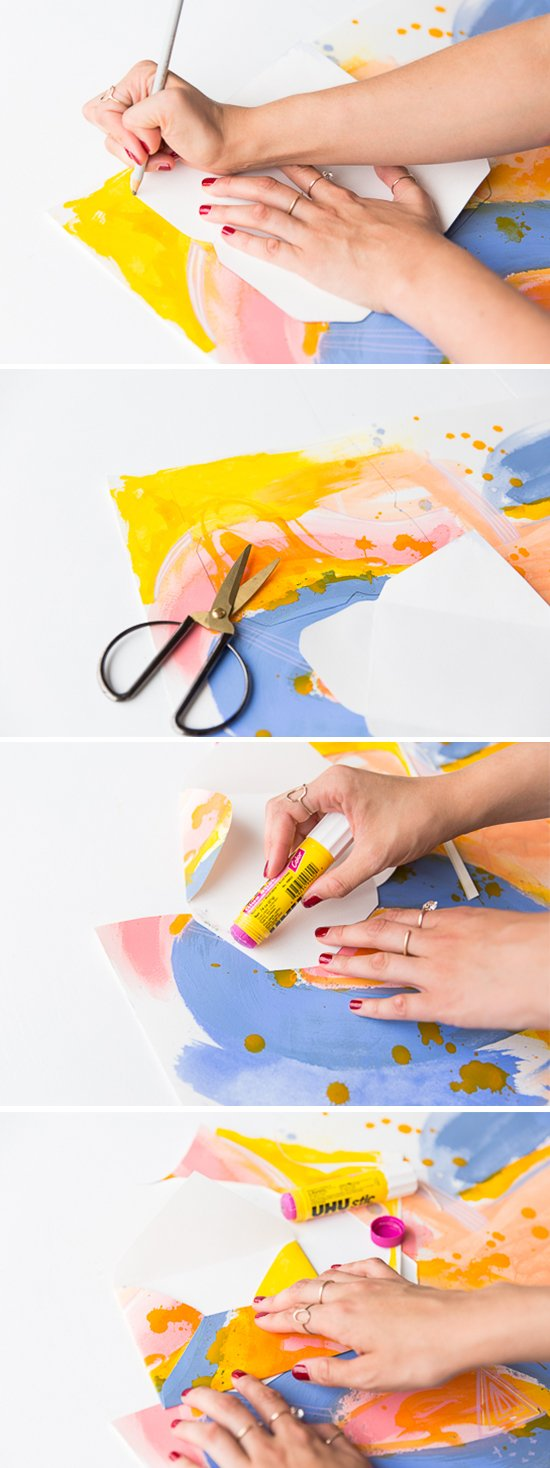 Watercolor Briefumschlag basteln