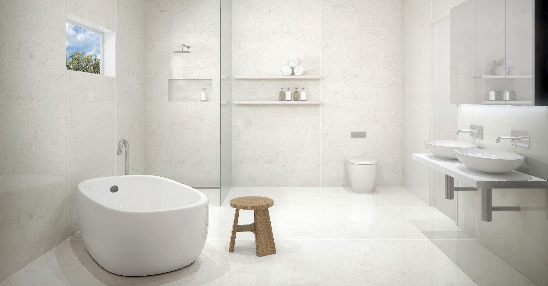 Ideen für außergewöhnliches Design für ein fugenloses Bad