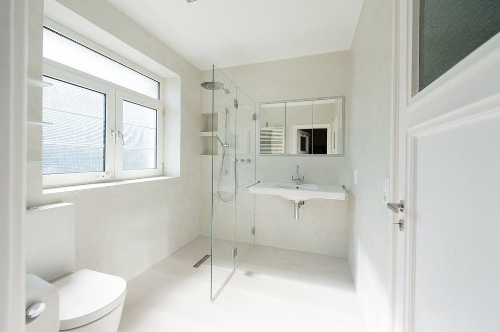 Das Bad ohne Fliesen sieht stilvoller als ein Fliesen Bad aus!