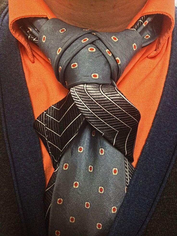 Wie bindet man einen einzigartigen Krawattenknoten?