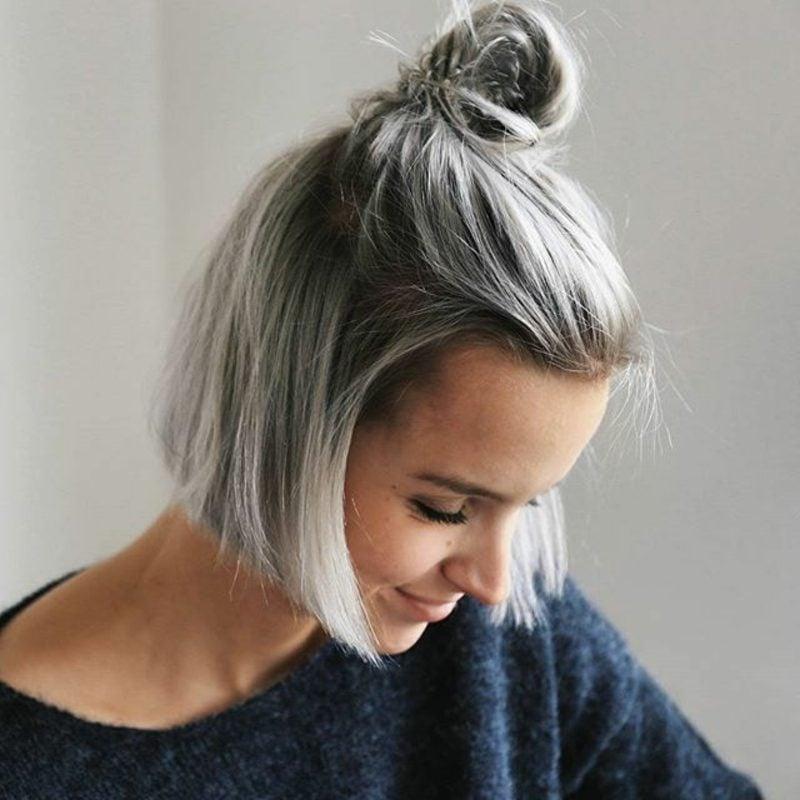 graue Haare färben Aschblond Dunkelblond Unterschied