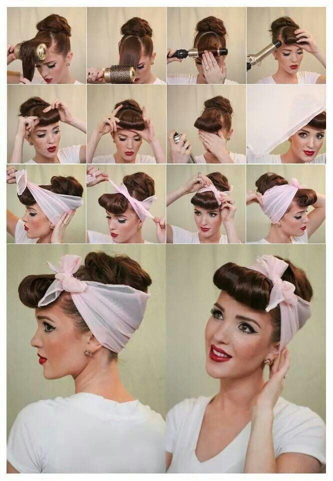 Frisuren mit Haarband: ausführliche Anleitungen
