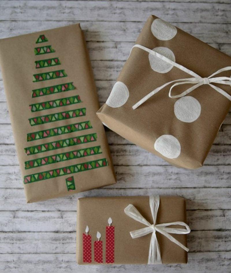 Geschenke verpacken mit Stoff DIY Ideen