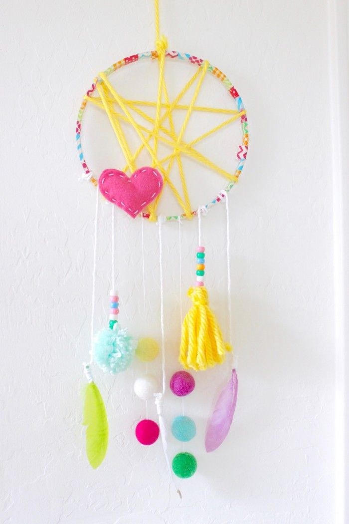 Kreative Ideen für Traumfänger Basteln mit Kindern