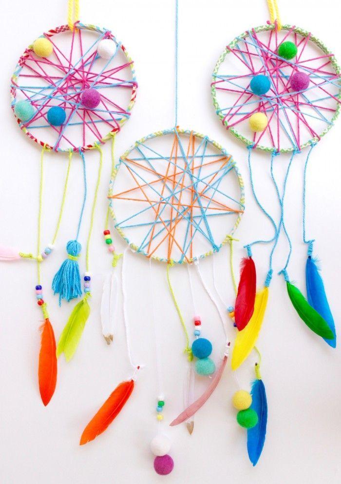 Tolle Ideen für Traumfänger Basteln mit Kindern