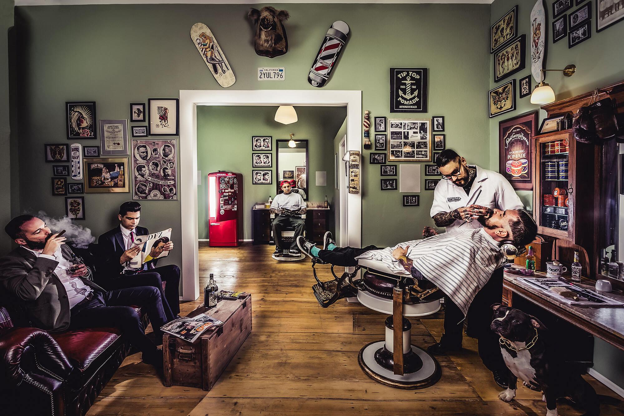 Das Barbershop gilt nicht nur als einen Friseurladen, sondern auch als einen Männerclub, wo Sie wohl fühlen und ganz gut gepflegt werden.
