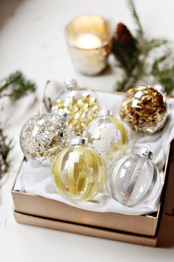 Weihnachten Vintage Deko in Gold