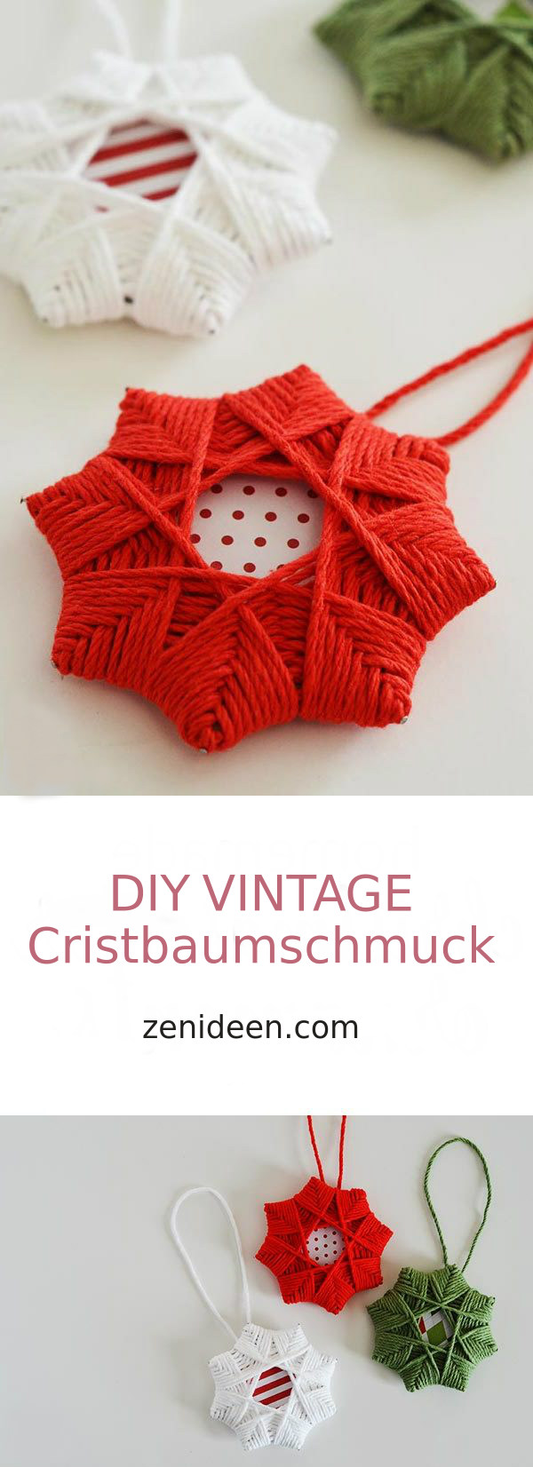 DIY Vintage Christbaumschmuck