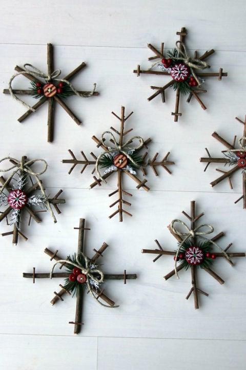 Weihnachtsdeko selber machen - Vintage Deko aus Naturmaterialien