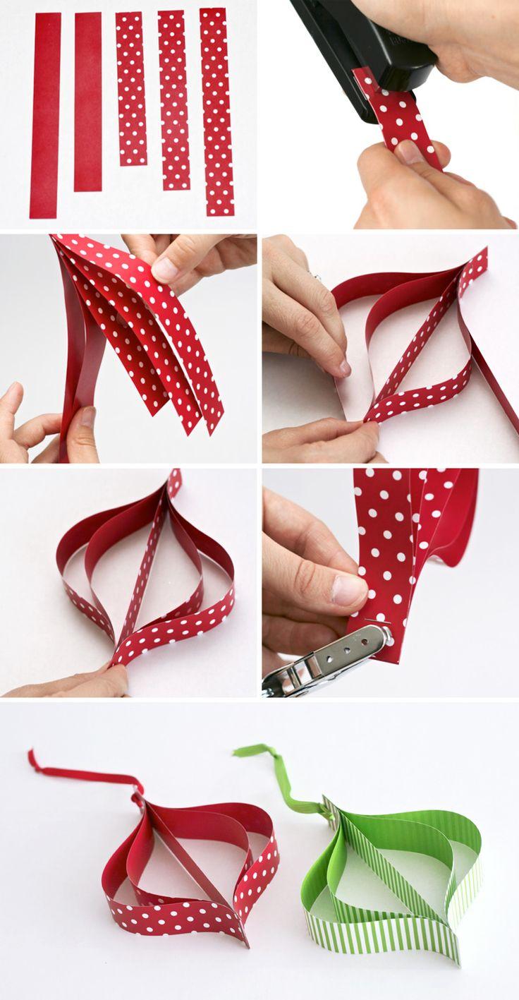Weihnachtsanhänger aus Papier selber machen