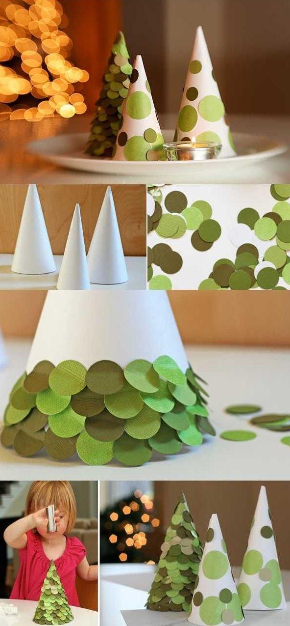Weihnachtsbasteln mit Kindern aus Papier - Anleitung