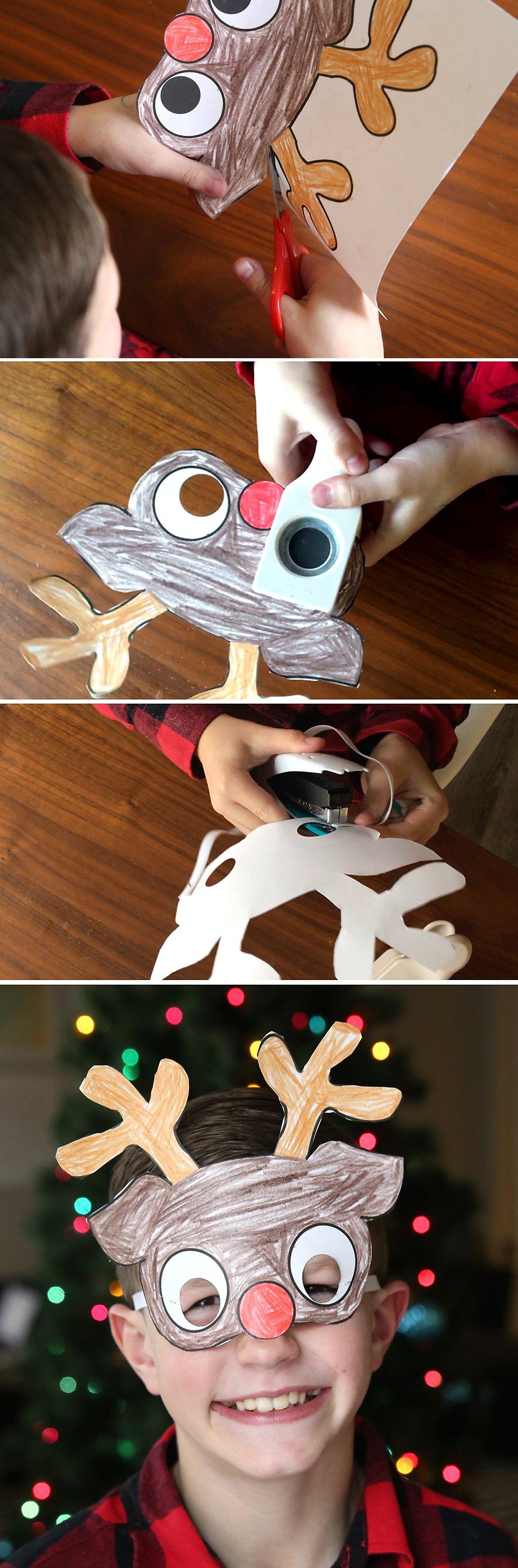 Bastelideen Weihnachten - Masken basteln