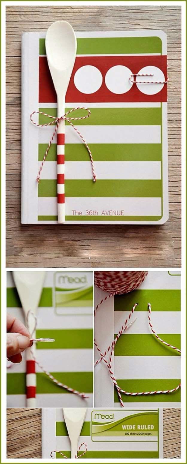 Ein Kochbuch richtig dekorieren und noch viele Weihnachtsgeschenke für Eltern