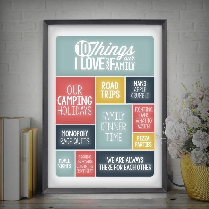 10 Dinge, warum ich meine Eltern liebe - und noch 99+ Ideen DIY Anleitung für Weihnachtsgeschenke für Eltern