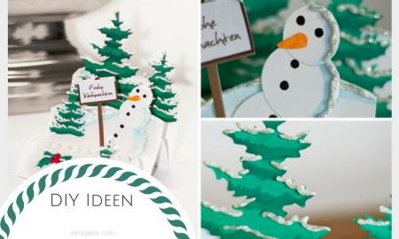 Hier finden Sie viele DIY Ideen für Weihnachtskarten Basteln mit einem 3D Effekt