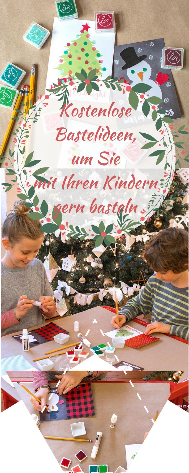 Zu Kindern passende Weihnachtskarten