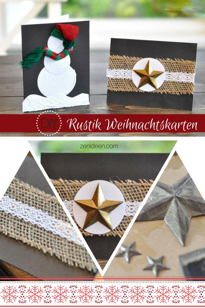 DIY Rustik Weihnachtskarten basteln