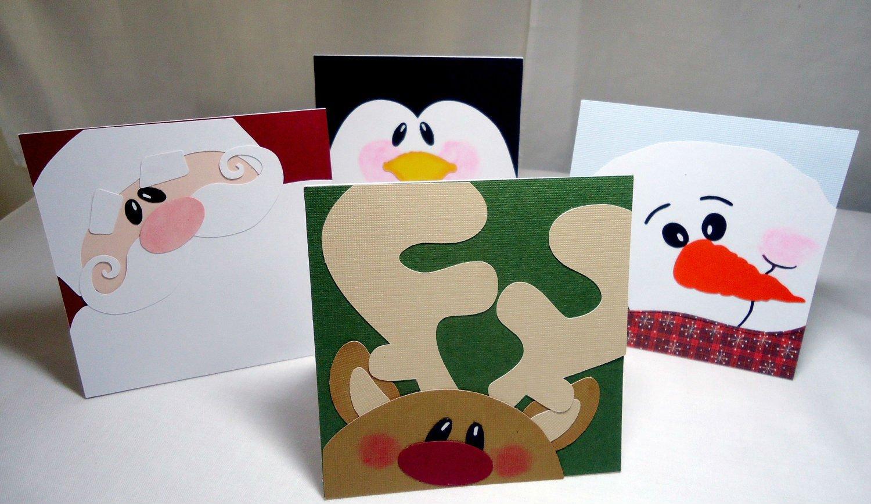 Viele Weihnachtskarten Motive basteln