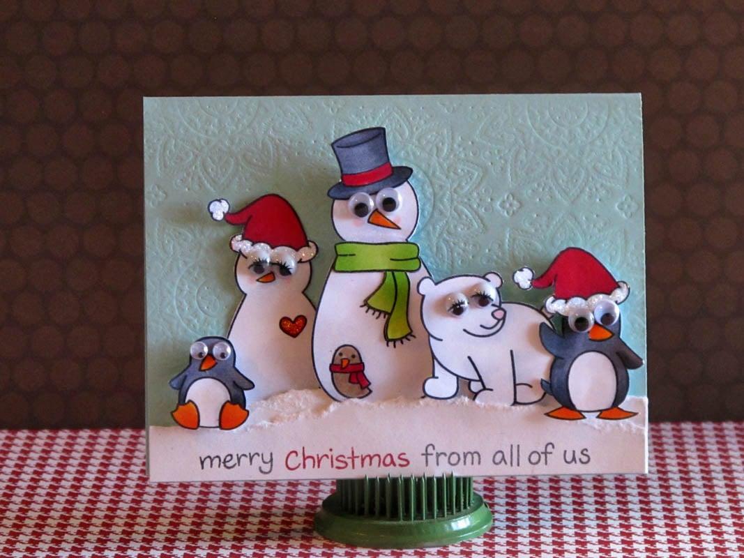 Wie können Sie diese Weihnachtskarte basteln?